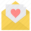 day, letter, love, message, romance, romantic, valentine icon