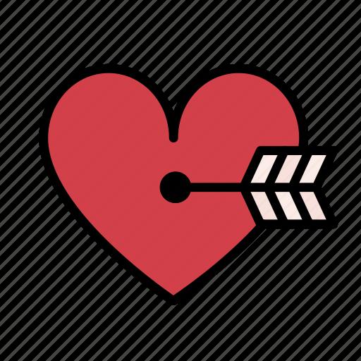 cupid, favorite, heart, love, romance, romantic, valentine icon