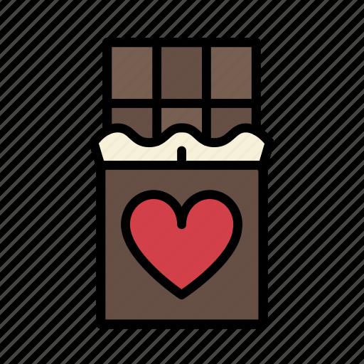 chocolate, gift, love, sweet, sweets, valentine, valentines icon