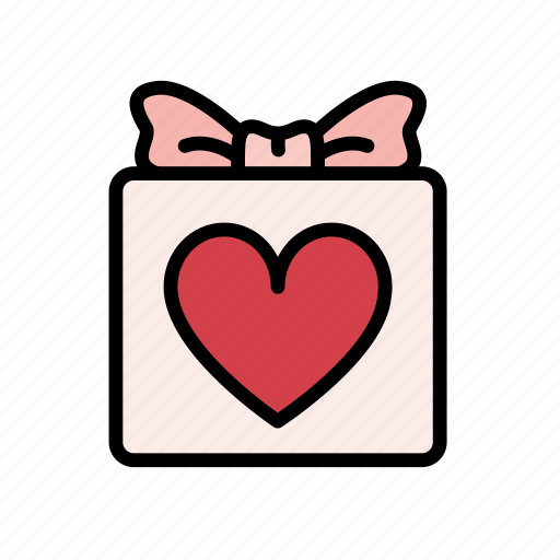 box, gift, heart, love, package, valentine, valentines icon