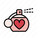 gift, heart, love, perfume, present, romantic, valentine icon