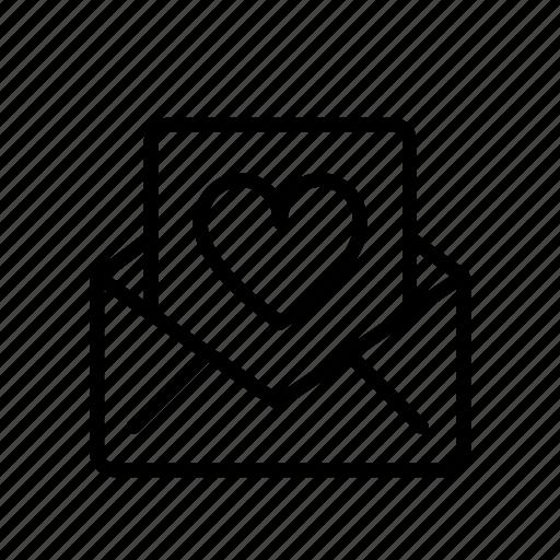 heart, letter, love, message, romance, romantic, valentine icon