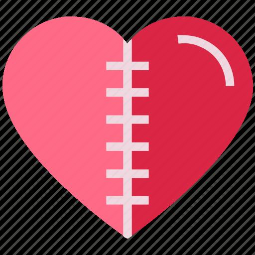 heart, injury, love, pain, scar, valentine's day icon