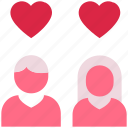 couple, heart, hearts, love, marriage, romance, valentine's day icon