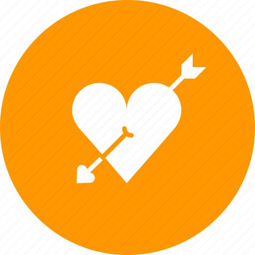 arrow, cupid, heart, love, marriage, romance, valentines icon