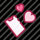 heart, love, mobile, phone, romantic, valentine