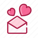 heart, letter, love, mail, romantic, valentine icon