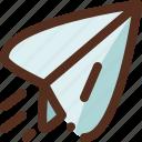 message, paper, plane, text