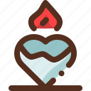 candle, decoration, heart, love icon