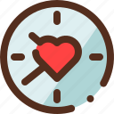 clock, heart, time, valentine