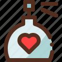 love, perfume, present icon