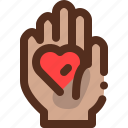hand, heart, love, valentine