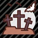 cemetery, halloween, horror, monster icon