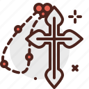 cross, halloween, holy, horror, monster icon