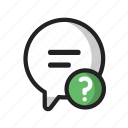 bubble, chat, help icon