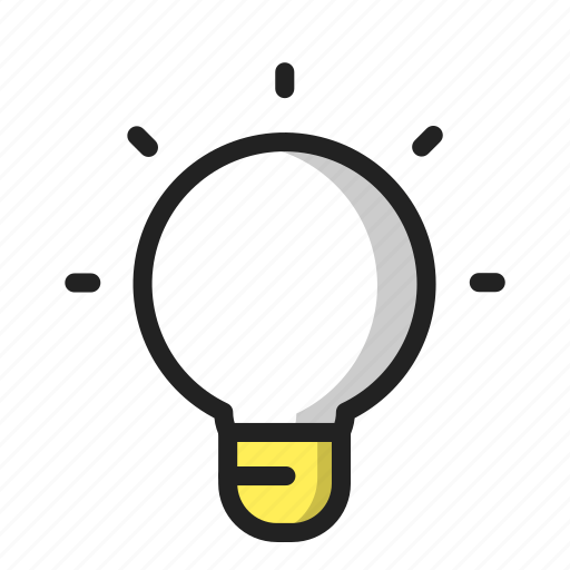 Bright, idea, lamp, tips icon