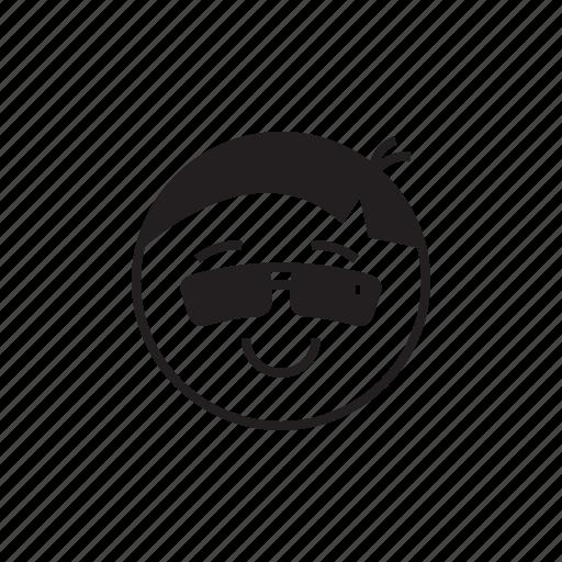 cool, emoji, emoticon, face, smiley, style icon