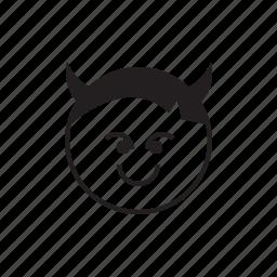 bad, devil, emoji, evil, face, smiley icon
