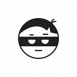 emoji, face, robber, smiley, steal, thief icon