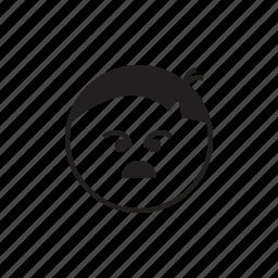 anger, emoji, face, smiley, unhappy icon