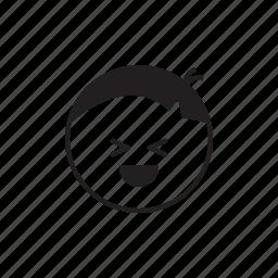 emoji, face, fun, laugh, laughing, smiley icon