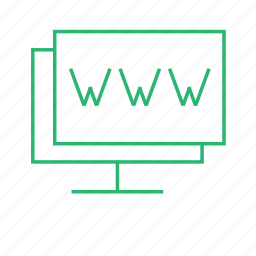 connection, internet, monitor, web icon