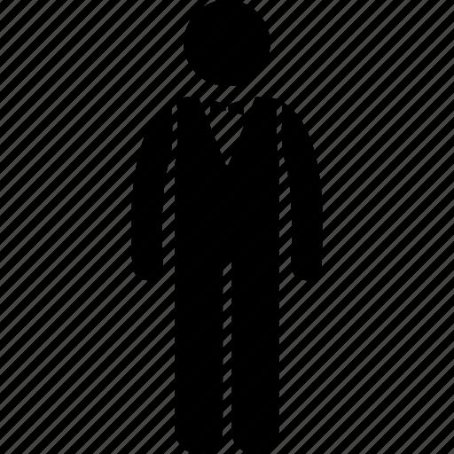 attendant, server, steward, uniform, waiter, worker icon