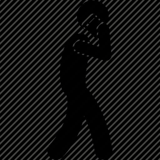 Man, phone, talking, walking icon - Download on Iconfinder