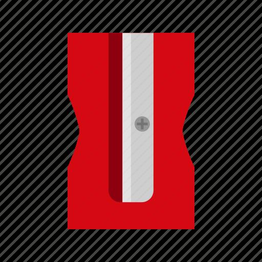 design, metal, pencil sharpener, plastic, school icon
