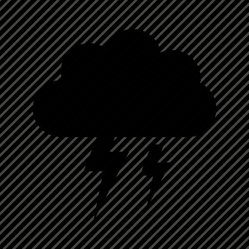 cloud, cloud with lightning, design, rain, sky icon