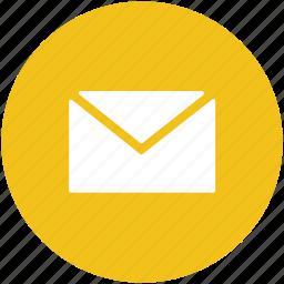 correspondence, inbox, letter, letter envelope, mail icon