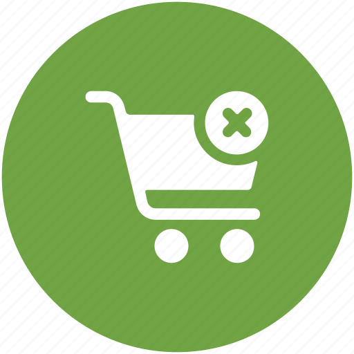 cancel, cancel from cart, remove, remove from cart, shopping cart, shopping trolley icon