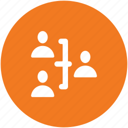 communication, group, hierarchy, people, team, team members icon