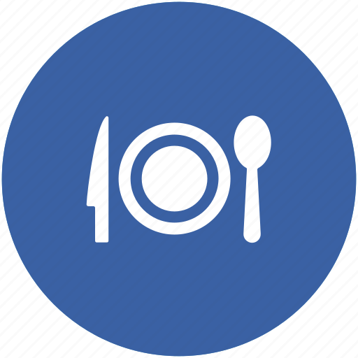 dining, eating, fork, plate, restaurant, spoon, tableware icon