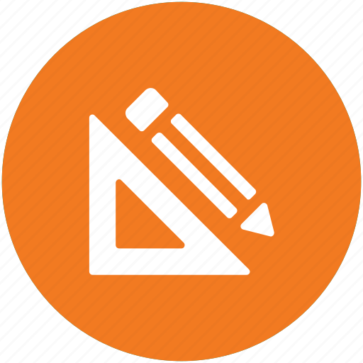 degree square, drafting, drawing, geometry, pencil, set square, stationery icon