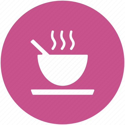 dinner, food bowl, hot food, meal, soup bowl, spoon icon