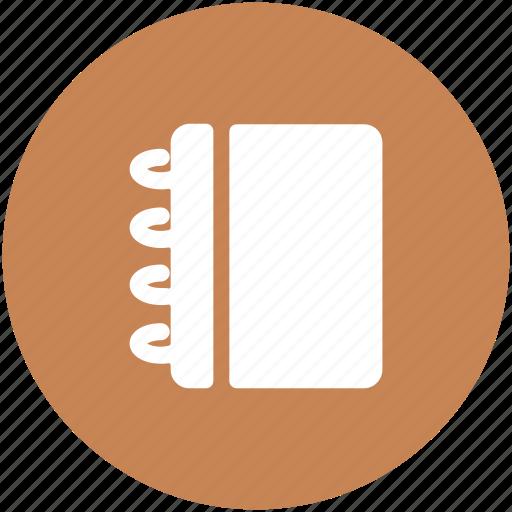 jotter, notebook, notepad, steno pad, writing, writing pad icon