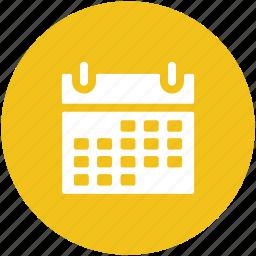 calendar, daybook, schedule, wall calendar, yearbook icon