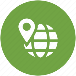 global localization, globe, localization, location pin, map pin, placeholder, world location icon