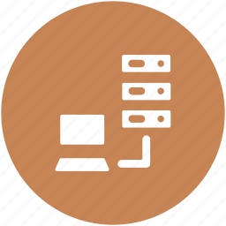 data hosting, laptop, server, server connected, server connection, server sharing icon