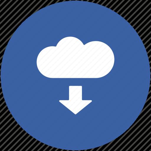 cloud downloading, computing cloud, downloading file, downloading from cloud, storage cloud icon