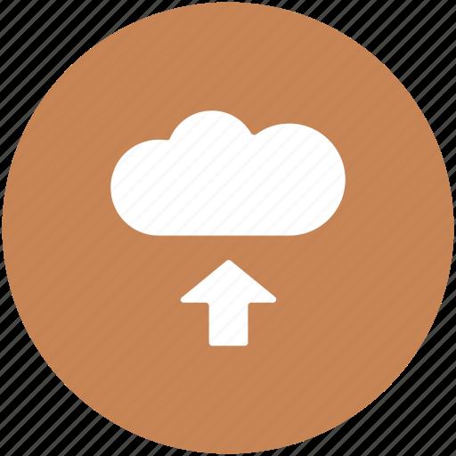 computing cloud, storage cloud, uploading cloud, uploading file, uploading to cloud icon