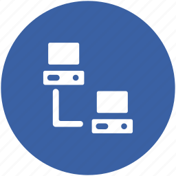 computers, computers connected, data exchange, data sharing, data transfer icon