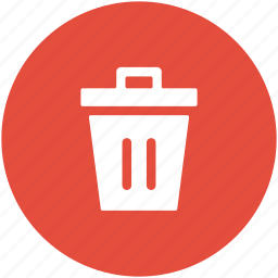 dustbin, garbage, recycle bin, trash can, waste bin, waste container icon
