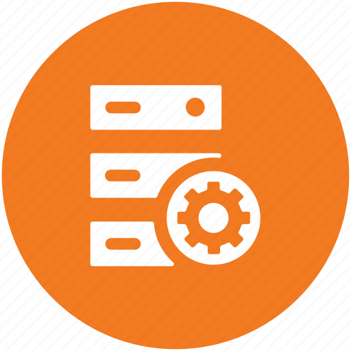 cog wheel, network setting, server options, server rack, server setting icon