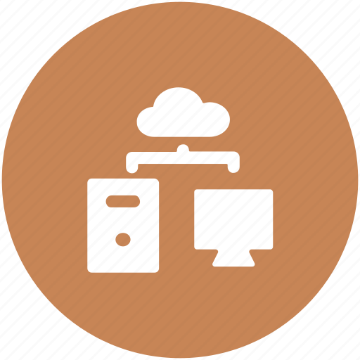 cloud computing, cloud sharing, computer, data sharing, networking icon