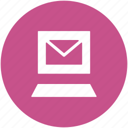 electronic correspondence, electronic mail, email, inbox, laptop, mail, new email icon