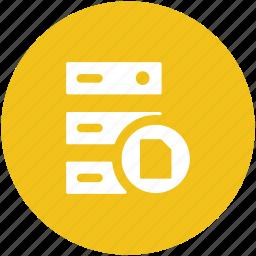 server, server data, server rack, server storage, web hosting icon
