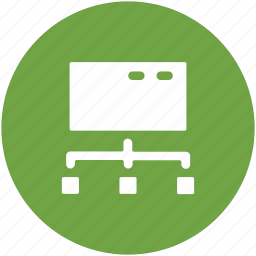 hierarchical network, hierarchy, network connection, networking, server connection icon