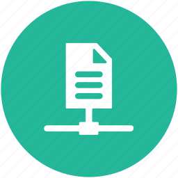 documents sharing, file sharing, server data sharing, server sharing icon